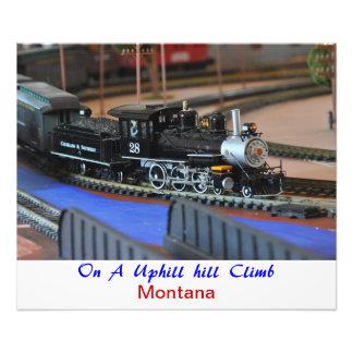 No 1038 - Sky Trains Up Hill Climb MT Photo Art
