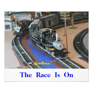 No 1058 - Fast Trains The Race is On Photographic Print