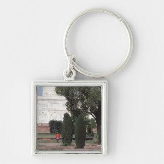 No.121 Princess Diana Taj Mahal 1992 Silver-Colored Square Key Ring