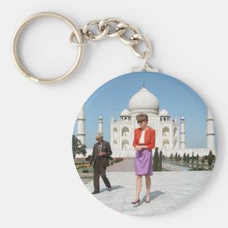 No.122 Princess Diana Taj Mahal, India 1992 Basic Round Button Key Ring