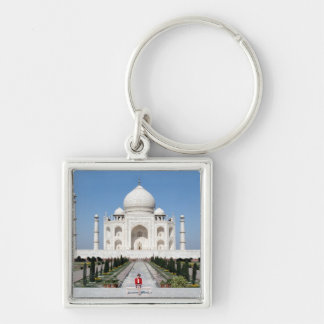 No.123 Princess Diana Taj Mahal 1992 Silver-Colored Square Key Ring