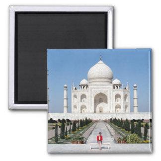 No.123 Princess Diana Taj Mahal 1992 Square Magnet