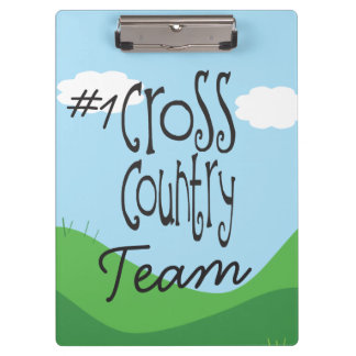 No 1 Cross Country Team - Cross Country Coach Clipboard
