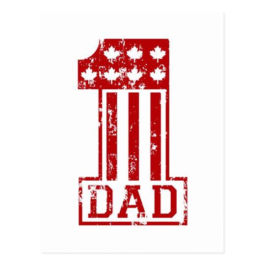 No. 1 Dad Canada Postcard