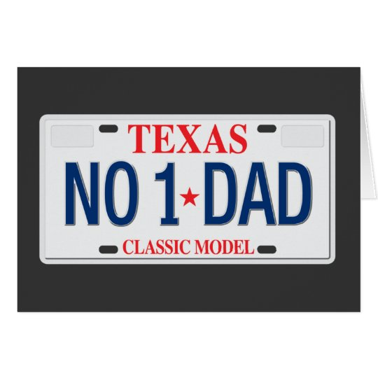 NO. 1 Dad Father's Day card