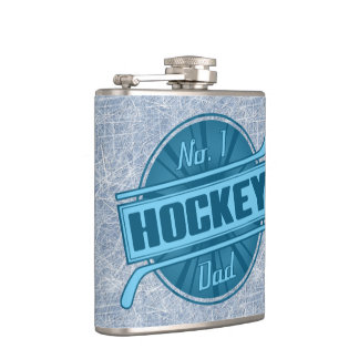 No. 1 Hockey Dad Stainless Steel Hip Flask
