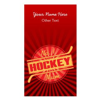 No 1 Hockey Mum Customisable Business Cards
