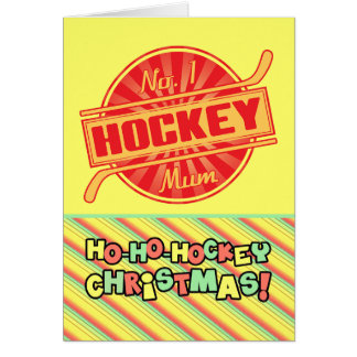 No 1 Ice Hockey Mum Christmas Card