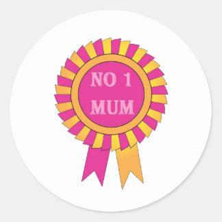 No 1 mum classic round sticker