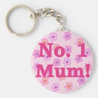 No. 1 Mum Flower Keychain