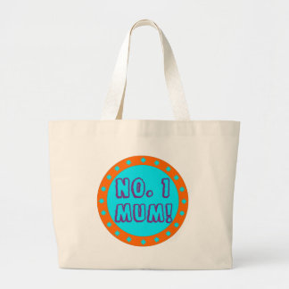 No. 1 Mum Orange & Blue Tote Bag