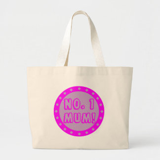 No. 1 Mum Pink & Purple Tote Bag