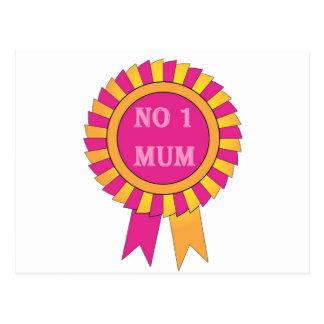No 1 mum postcard