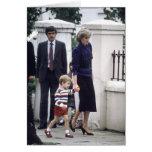 No.22 Prince William & Princess Diana 1985 Greeting Card
