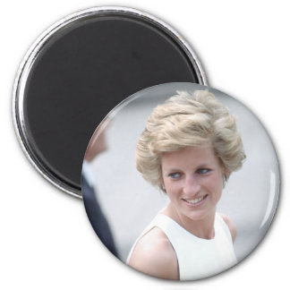 No.23 Princess Diana visits Budapest, Hungary 1990 6 Cm Round Magnet