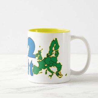 No 2 Brexit - EU - UK referendum Two-Tone Coffee Mug
