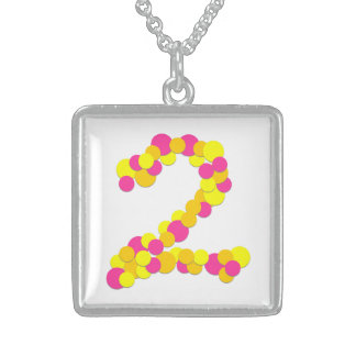 No. 2 Numeric Sterling Silver Square Necklace