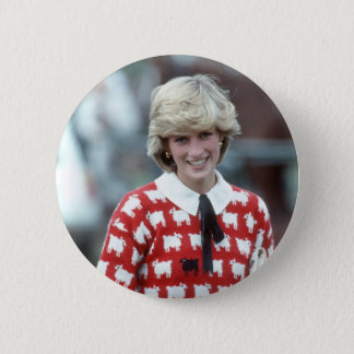 No.42 Princess Diana polo 1983 6 Cm Round Badge