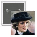 No.44 Princess Diana France 1988 Pinback Buttons