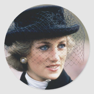 No.44 Princess Diana France 1988 Round Sticker