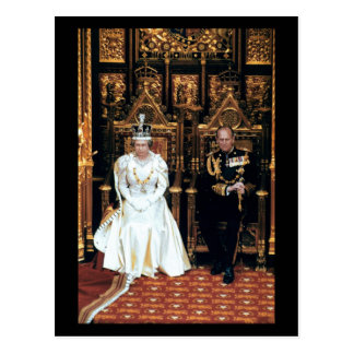 No.45 HM Queen Elizabeth II Parliament 1992 Postcard