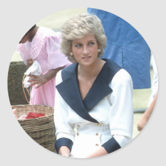 No.45 Princess Diana Australia 1988 Round Sticker