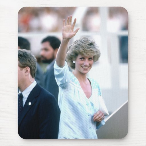 No.55 Princess Diana Florida USA 1985 Mouse Pad