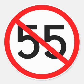 No 55 round sticker
