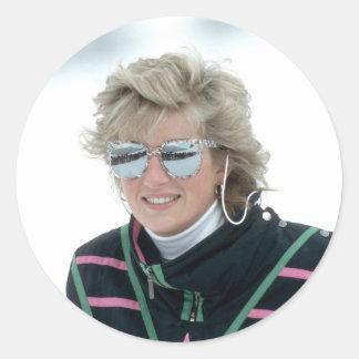 No 5 Princess Diana Austria 1988 Round Sticker