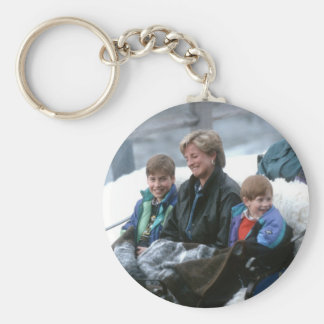 No.69 William, Diana and Harry Lech 1993 Basic Round Button Key Ring