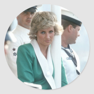 No.82 Princess Diana Sydney 1988 Round Sticker