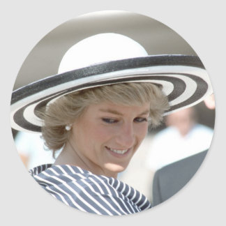 No.83 Princess Diana Sydney 1988 Round Sticker