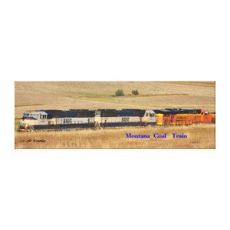 No # 904 .  120 car Coal Train. 3 Pusher Engines Stretched Canvas Prints
