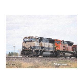 No # 905,  Lead Engine on Train... Gallery Wrap Canvas