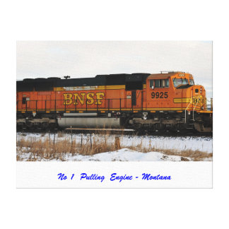 No 907 - No 1 Pulling Engine Stretched Canvas Print