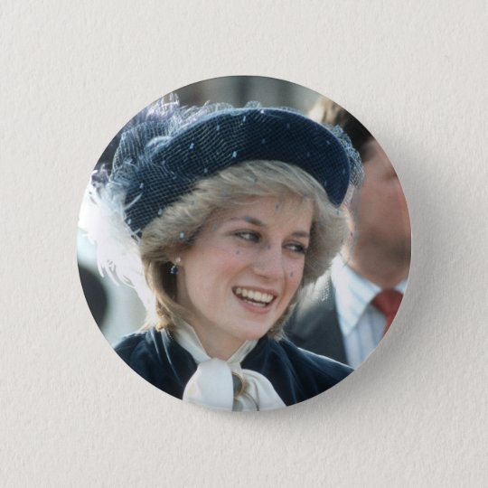No.98 Princess Diana Wantage 1983 6 Cm Round Badge