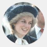 No.98 Princess Diana Wantage 1983 Round Sticker