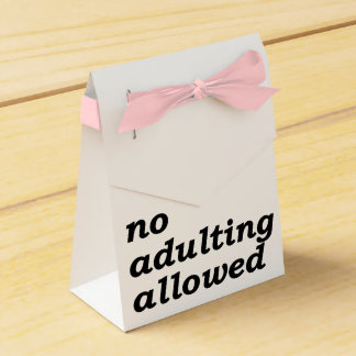 No Adulting Allowed Favor Box (Choose Ribbon Color