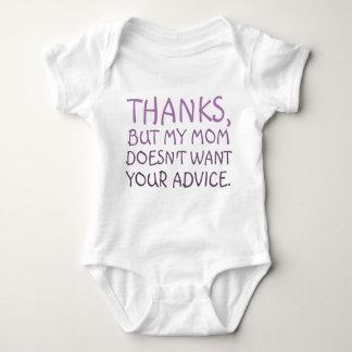 No Advice Baby Bodysuit