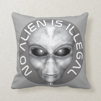 No Alien Is Illegal Cushion