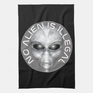 No Alien Is Illegal Tea Towel
