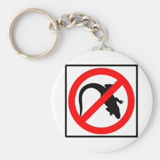 No Alligators Highway Sign Basic Round Button Key Ring