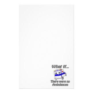 No Ambulances Stationery Paper