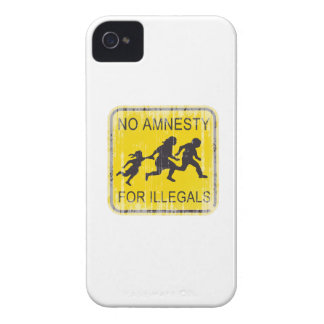 No Amnesty for illegals Faded.png Case-Mate iPhone 4 Cases