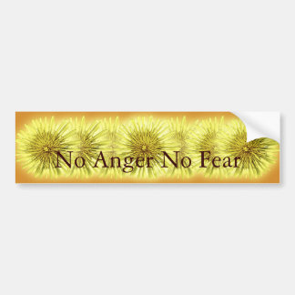 No Anger No Fear Bumper Sticker