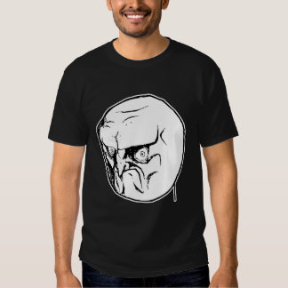 No Angry Rage Face Rageface Meme Comic Tshirts