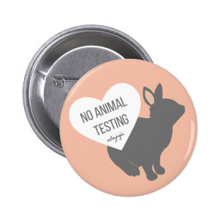 No Animal Testing 6 Cm Round Badge