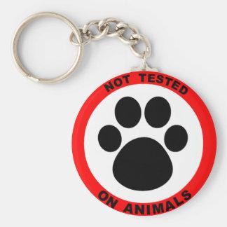 No Animal Testing Symbol Basic Round Button Key Ring