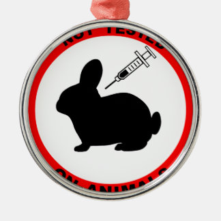 No Animal Testing Symbol Christmas Ornament