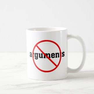 No Arguments Basic White Mug